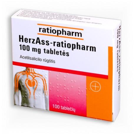 ACETILSALICILO RŪGŠTIS 500 mg, 100 tabl.