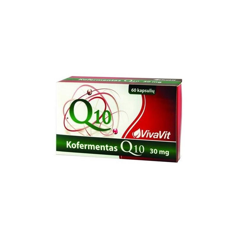 Kofermentas Q10 VIVAVIT, 30mg, 60kaps. - Camelia