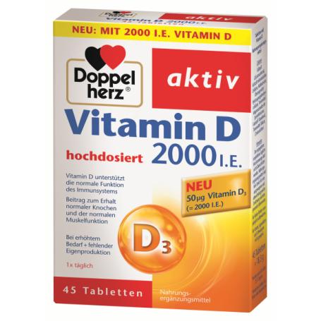 Doppelherz aktiv Vitamin D3 2000 I.E., N45 - Camelia